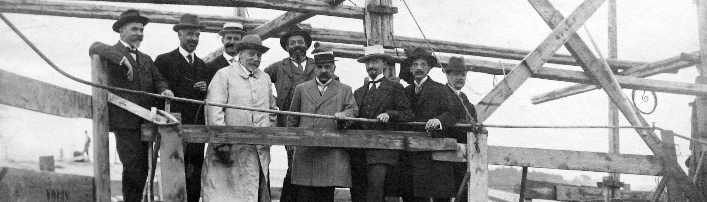 Visita a ponte Risorgimento 1910